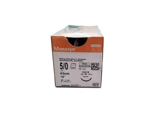Sutura Monosyn Ds12 6/0 12Pz  G0023412 Braun