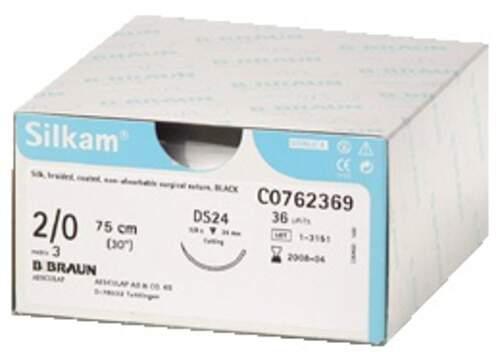Sutura Silkam Ds12 4/0 12Pz  G0762083 Braun