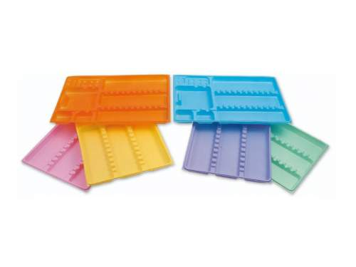 Dispo-Trays 4 Colori Assortiti Pz.400 C24 Larident