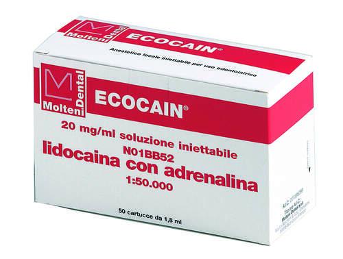 Ecocain 2% C.adrenalina 1-50  Rossa 561-T