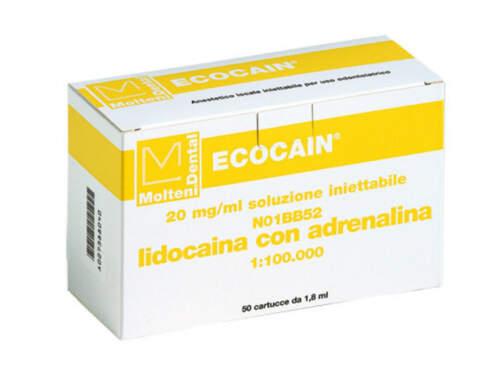 Ecocain 2% C.adrenalina 1-100  Gialla 563-T