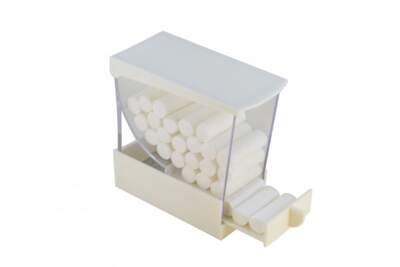 Porta Rulli Cotone A4 Colore Bianco Larident