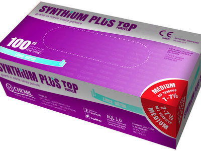 Guanti Chemil Nitrile Synthium 20+2